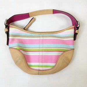 Coach Soho Hampton Hobo Pastel Striped Handbag